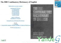 Cайт - The BBI Combinatory Dictionary of English (bbidict.narod.ru)