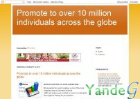 Cайт - Promote to over 10 million individuals across the globe (www.duke-williams.blogspot.com)